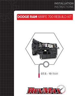 68RFE 700 Rebuild Kit Instructions
