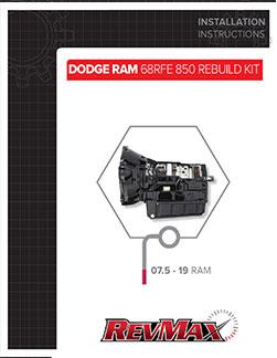 68RFE 850 Rebuild Kit Instructions