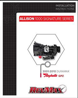 Allison 1000 Signature Series Raybestos Instructions