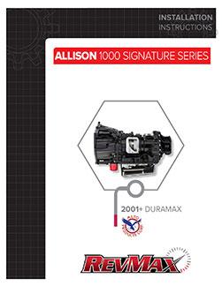 Allison 1000 Signature Series Instructions